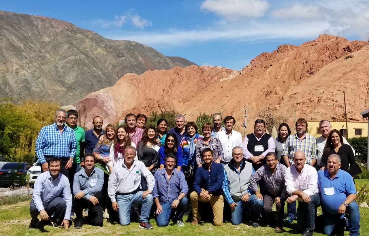 Funcionarios de la provincia de Jujuy junto a Paula Nuñez y Gonzalo Diéguez (CIPPEC)