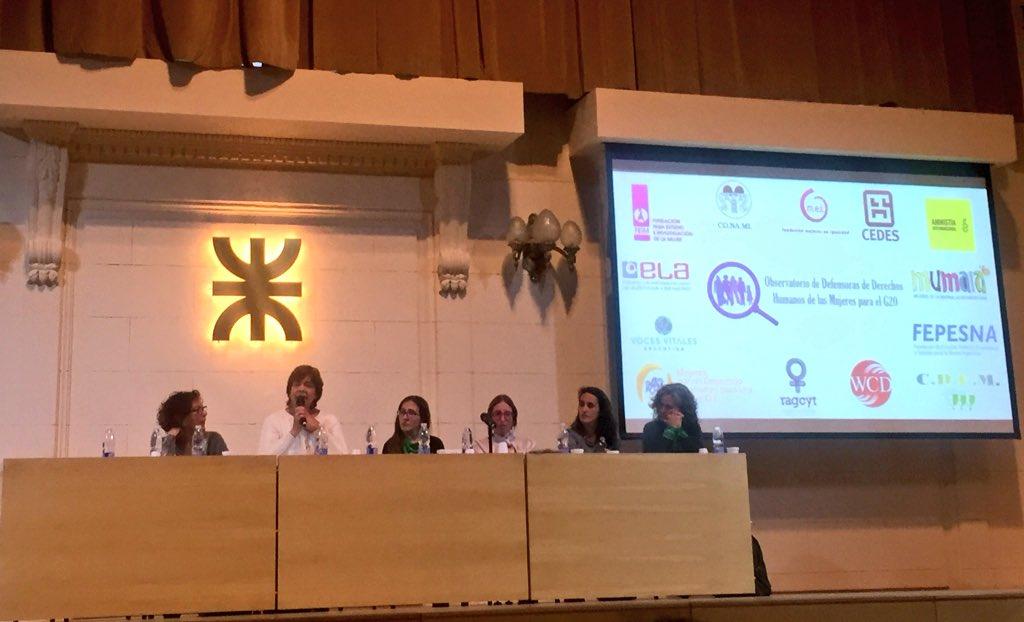 Representantes de CIPPEC en la reunión organizada por el Observatorio de Defensores de Derechos Humanos de las Mujeres para el G20