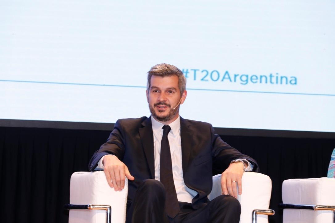 El jefe de Gabinete, Marcos Peña, en la Cumbre del T20 Argentina