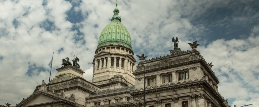 Imagen exterior del Congreso Nacional Argentino