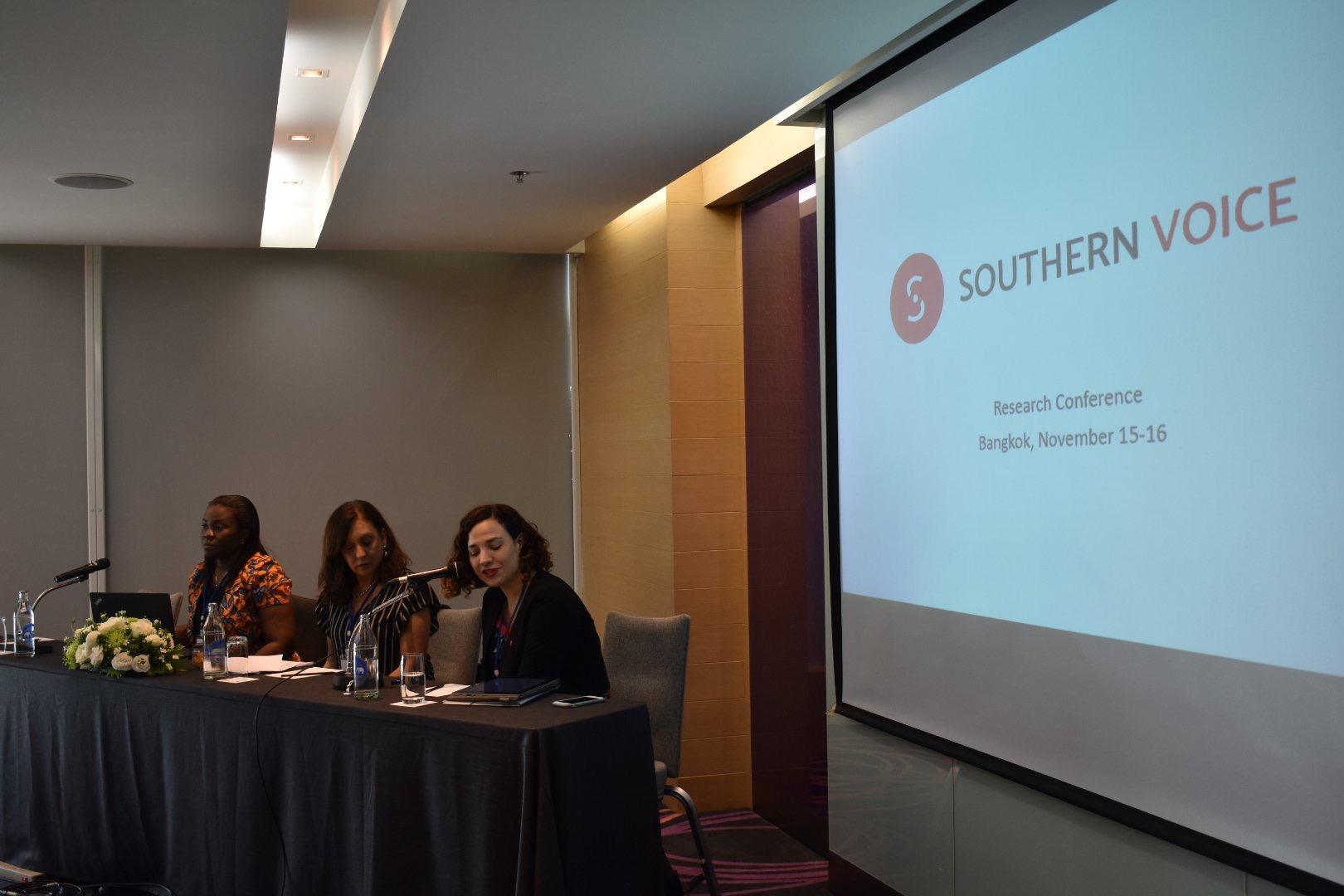 Gala Díaz Langou (CIPPEC) en la asamblea general de Southern Voice