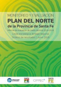 Flyer Monitoreo y Evaluación Plan del Norte de la Provincia de Santa Fe