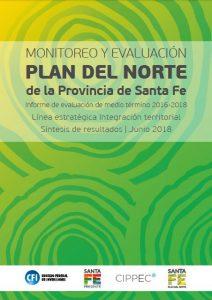 Flyer Monitoreo y Evaluación. Plan del Norte de la Provincia de Santa Fe