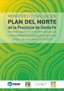Flyer Monitoreo y Evalución - Plan del Norte de la Provincia de Santa Fe