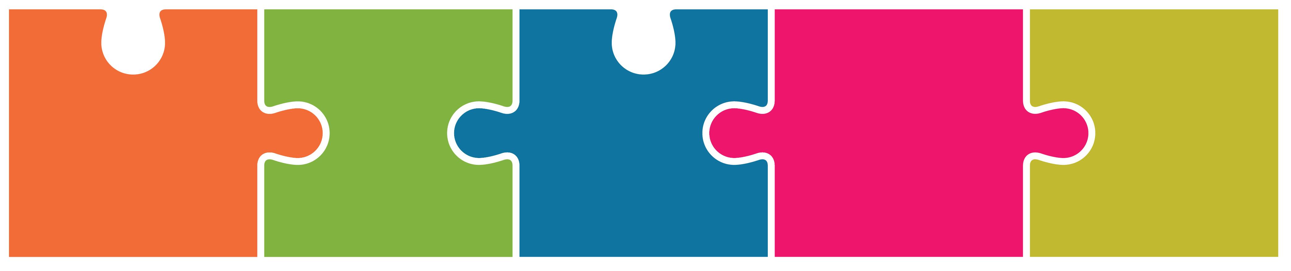 """Piezas de rompecabezas de colores - Proyecto """"Primera infancia, prioridad impostergable"""" de CIPPEC"""