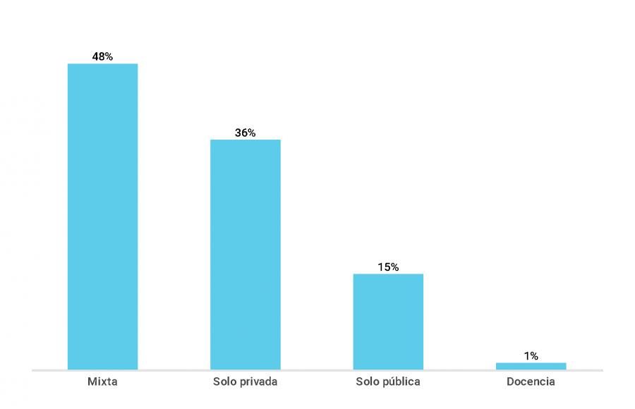 Gráfico sobre el porcentaje de directores según el tipo de trayectoria de carrera (2018)